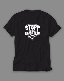 Stopp Air Base Ramstein T-Shirt schwarz