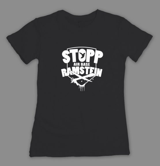 Stopp Air Base Ramstein T-Shirt_fitted schwarz