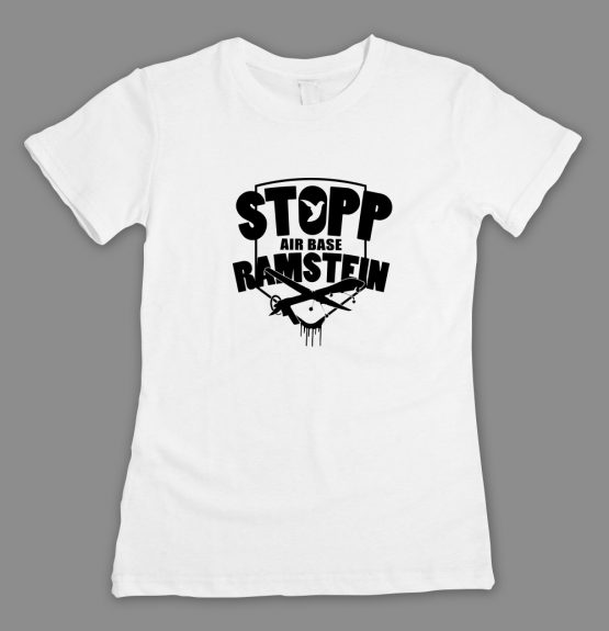 Stopp Air Base Ramstein-Logo T-Shirt_fitted weiss