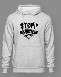 Stopp Air Base Ramstein Hoodie grau